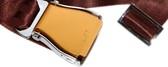 Flugzeuggürtel in Silber-Gold / Braun