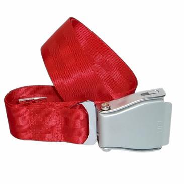 Flugzeuggürtel in Silber / Rot