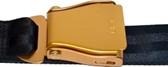 Flugzeuggürtel in Gold / Schwarz