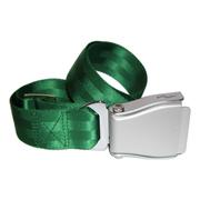 Flugzeuggürtel in Silber / Grün