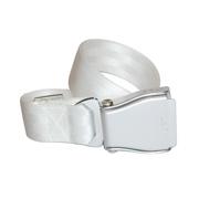 Flugzeuggürtel in Silber / Weiß