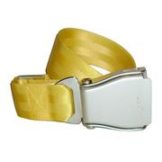 Flugzeuggürtel in Silber / Gelb