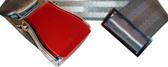 Flugzeuggürtel in Rot / Grau