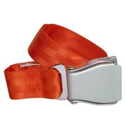 Flugzeuggürtel in Silber / Orange