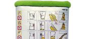 Flugzeuggürtel in Tablet Tasche / Grün