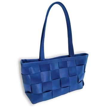 Flugzeuggürtel in Damenhandtasche / Blau